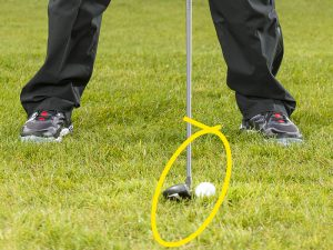 What is the right ball position for hybrids?