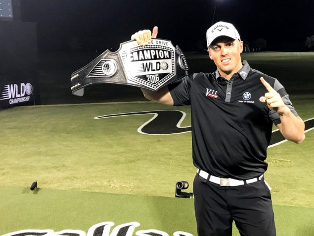 Golfer rockets a drive 439 yards to win long drive title