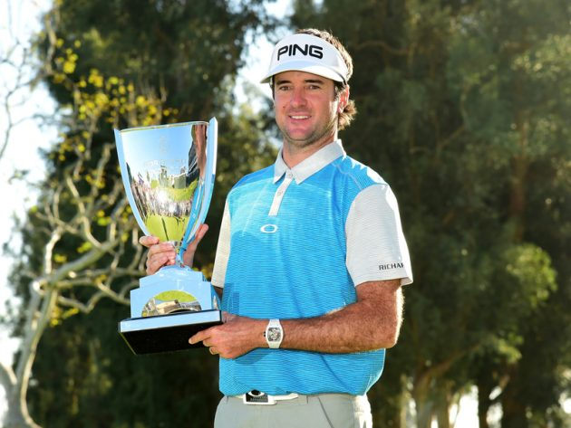 Bubba Watson with his third Genesis Open trophy