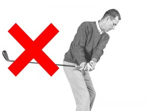 what does 'fanning' the golf club mean?