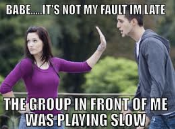 Image result for slow golf meme