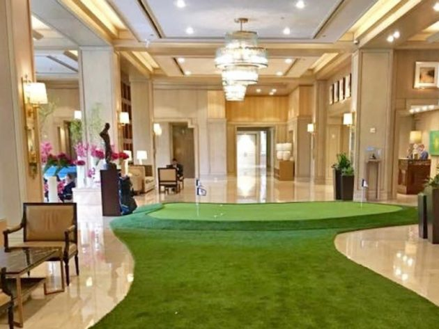 Hotel Installs Putting Green In Lobby