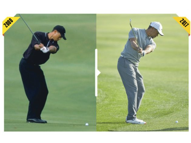 How Tiger S Swing Has Changed How Tiger Woods Today Compares