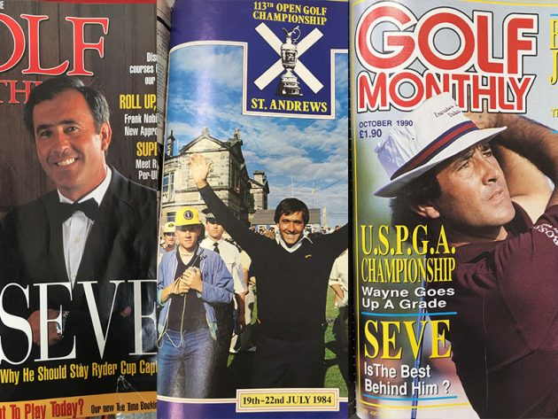 Classic Seve Ballesteros Golf Monthly Covers