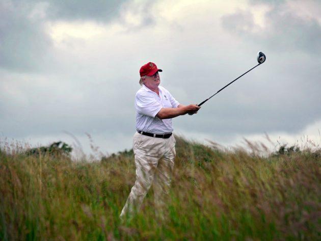 Donald Trump Shoots 73