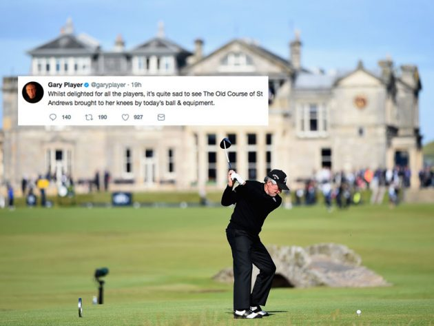 Gary Player 'Sad Old Course Brought To Her Knees