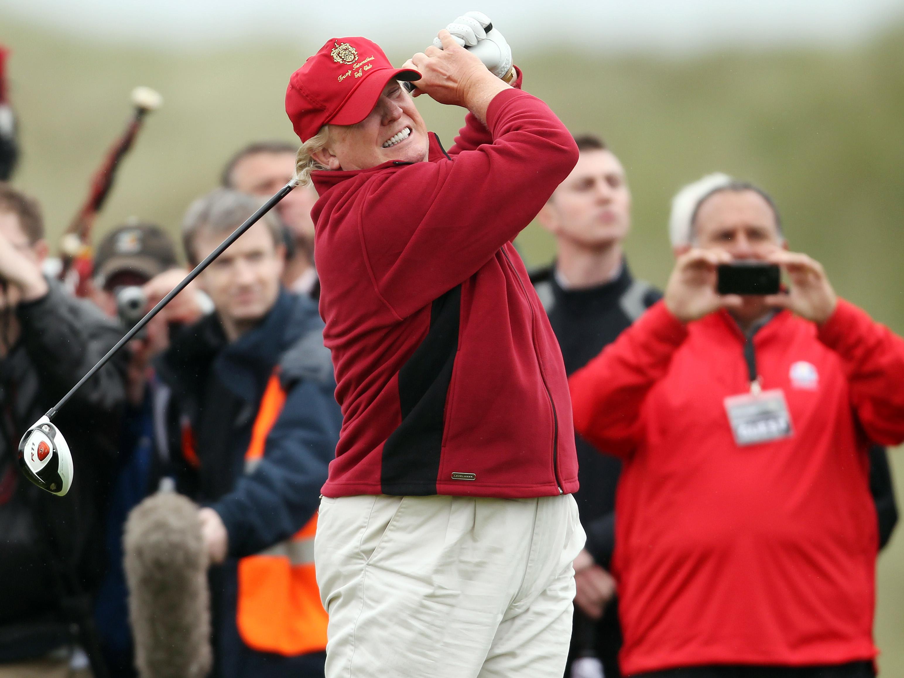Trump posts video of golf swing