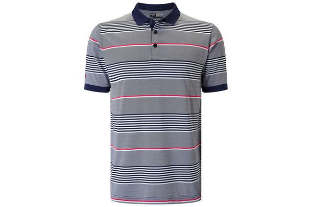 c44882fd Callaway Golf 3 Colour Stripe Polo Shirt, Best Golf Polo Shirts 2018