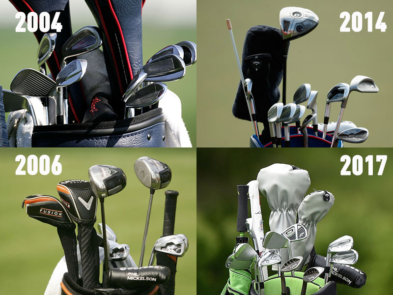 phil mickelson u0026 39 s golf equipment through the years