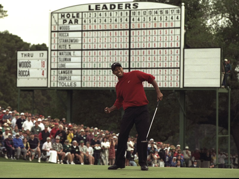 Tiger Woods Masters Record - Five Green Jackets