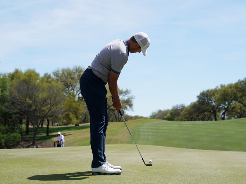 Luke List Putts With Wedge