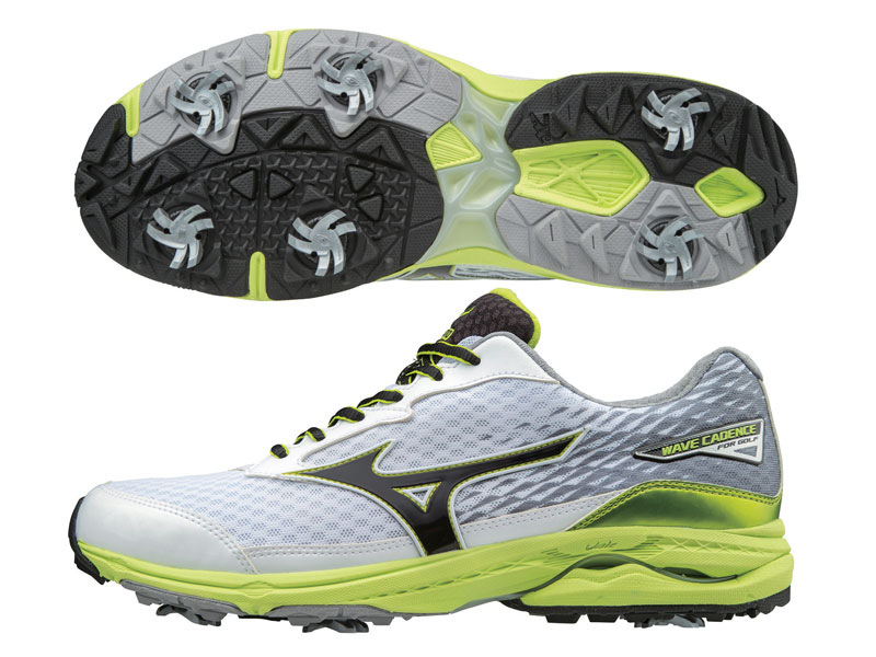 5374ba503b43 It blends the comfort and support of a high-end running shoe, with the  lateral stability and traction needed in golf. Mizuno's headline Wave  platform ...