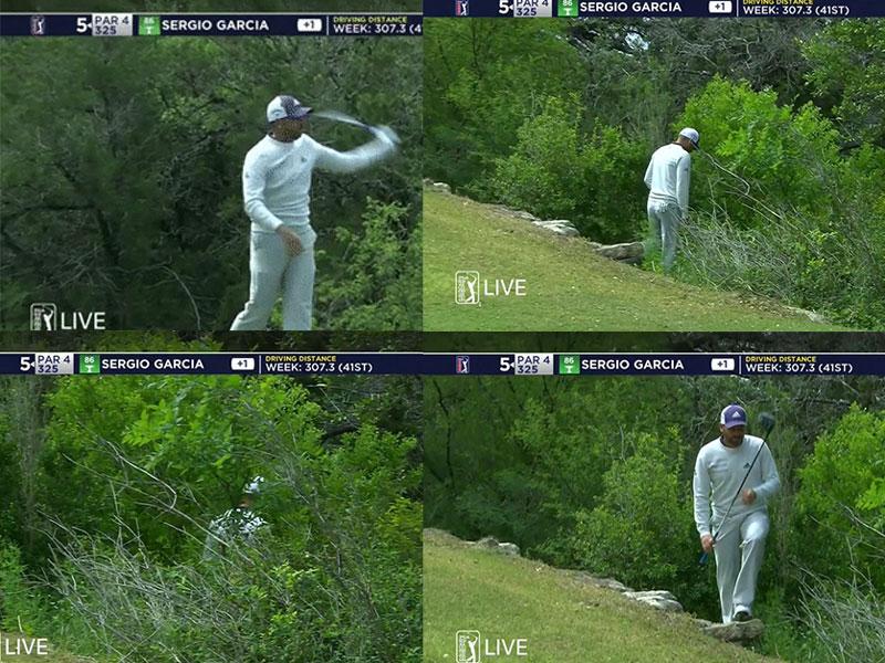 WATCH: Sergio Garcia Throws Driver Into Bushes