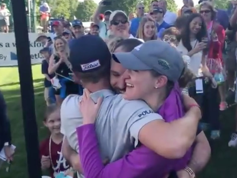 WATCH: Justin Thomas Plays Part In Pro-Am Wedding Proposal