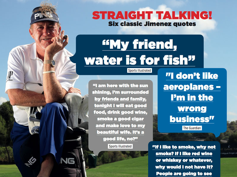 60 Of The Best Miguel Angel Jimenez Quotes Golf Monthly Adorable Golf Love Quotes