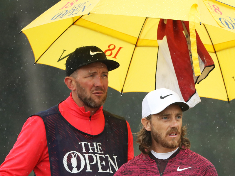 Who is Tommy Fleetwood's caddie?