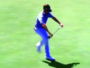 Pro Golfer Snaps Putter Over Knee