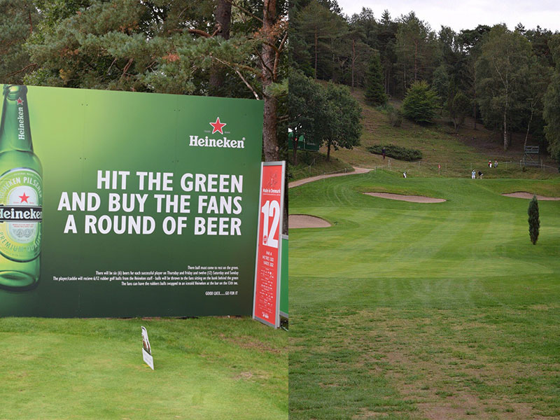 Free Beer For Fans If Players Drive 12th Green At Made In Denmark