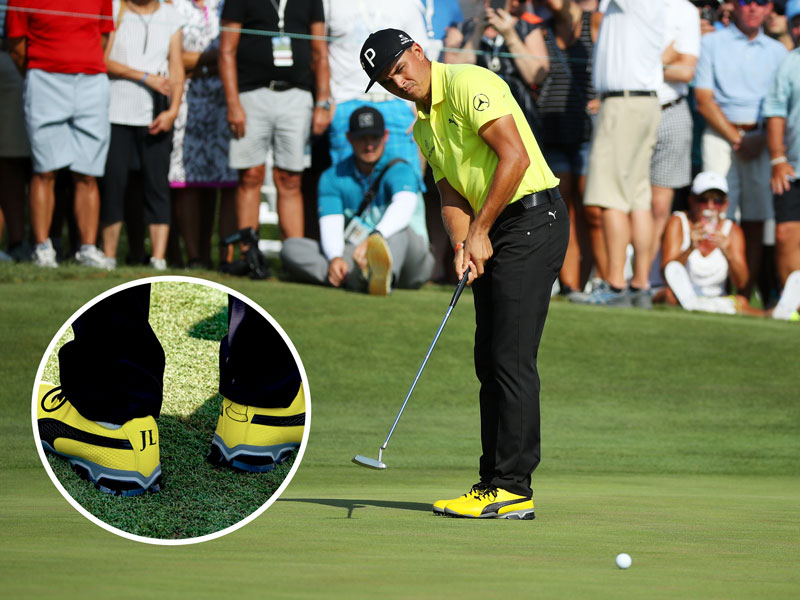 Rickie Fowler Wears Yellow Shoes In