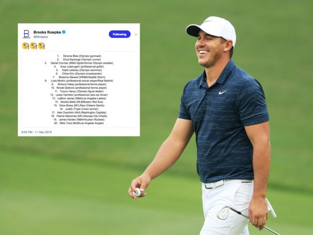 Brooks Koepka Questions Exclusion From ESPN 20 Dominant Athletes