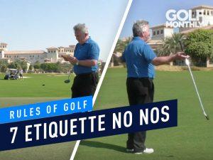 Golf Etiquette no nos