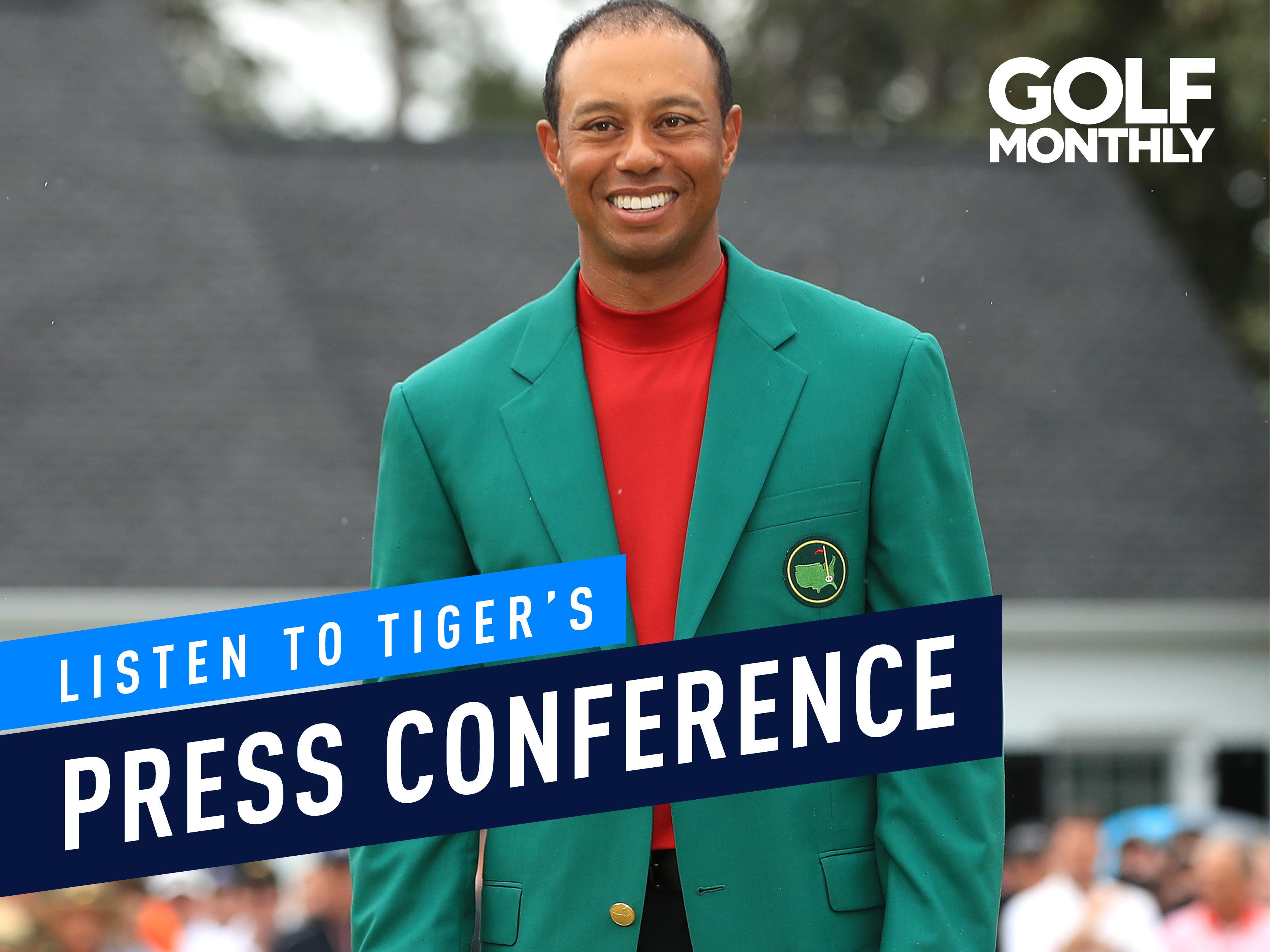 tiger woods u0026 39  masters winning press conference