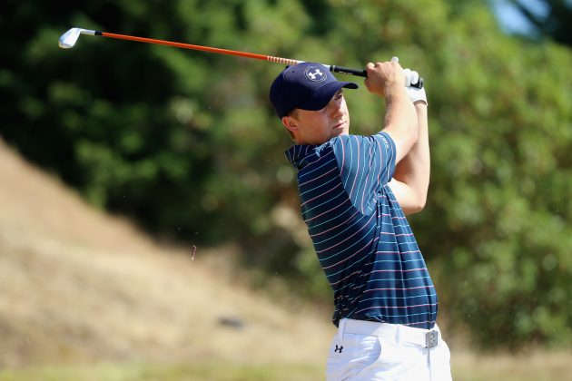 8be3c0e44c Then, because of how bare and dry the course was, Spieth then went to a  Titleist 712U driving iron which he used regularly to find the fairways and  get the ...