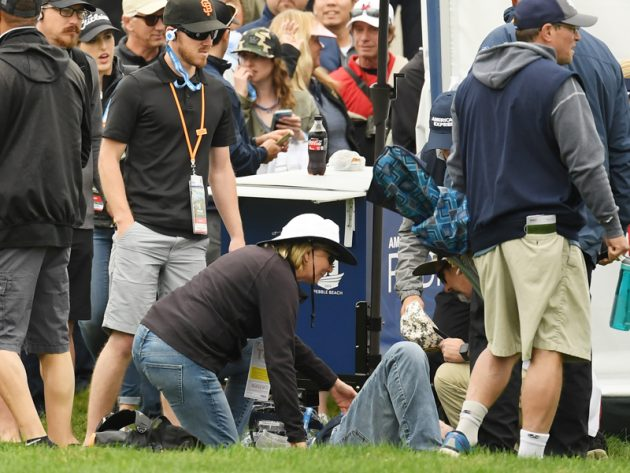 flipboard  runaway golf buggy injures fans at us open