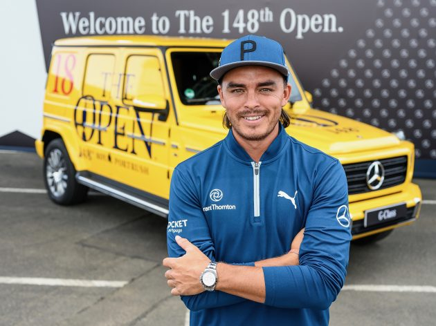 Rickie Fowler at home in Northern Ireland for The Open