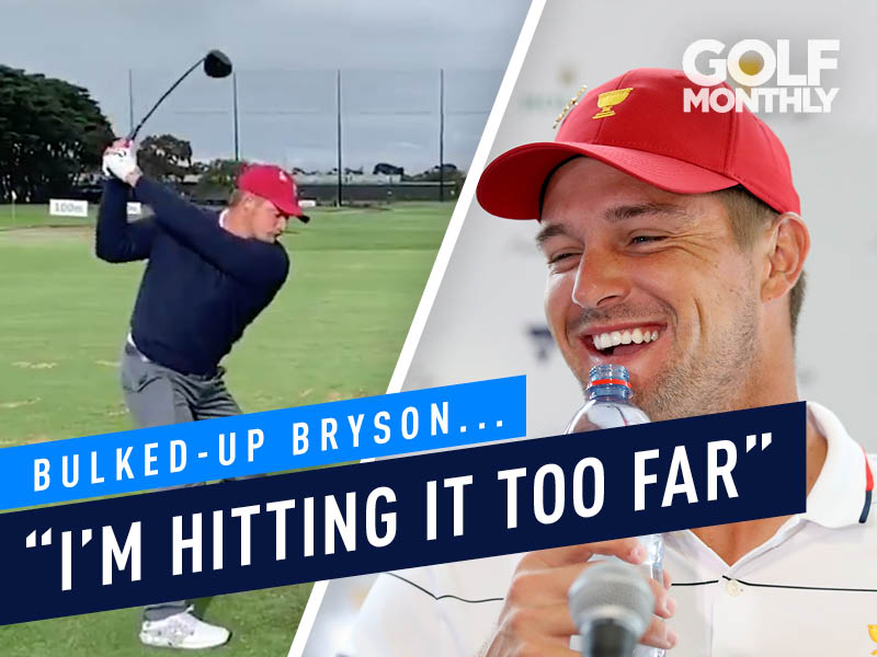 "Bulked-Up Bryson DeChambeau ""Hitting It Too Far"" On Driving Range"