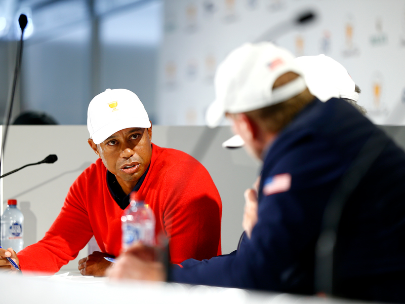 Tiger Woods Picks Himself First In Presidents Cup Day One Matches