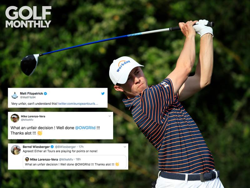 "Golf Pros React To ""Unfair"" Restart Of World Golf Rankings - Golf Monthly"