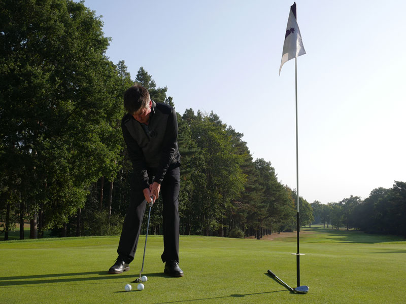 Develop a more positive speed on the greens