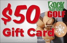 Rock Bottom gift cetificate