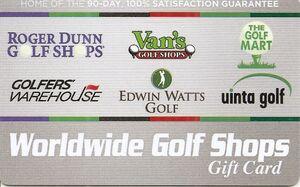 Worldwide Golf Shops golf gift cards