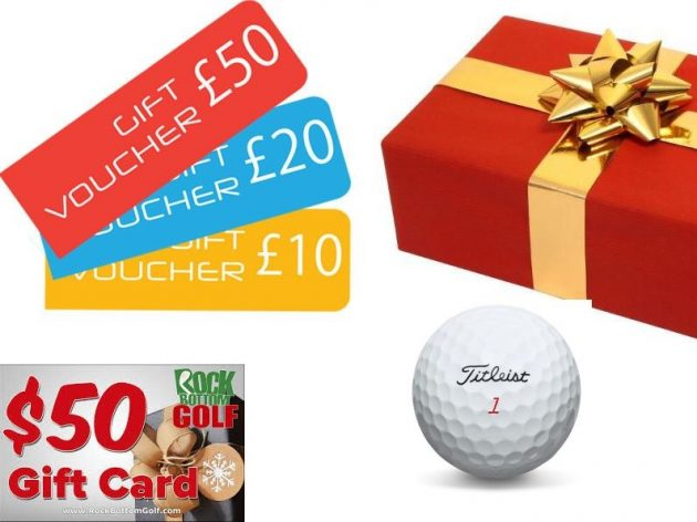 Golf Gift Ideas - golf gift cards make a great present