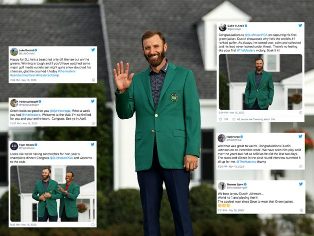 How Social Media Reacted To Dustin Johnson's Masters Win