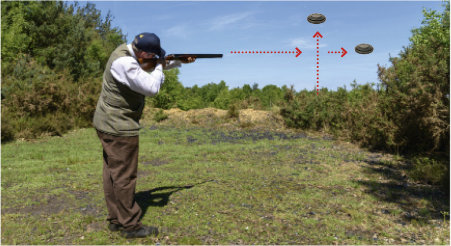 How to hit simultaneous pairs when clayshooting