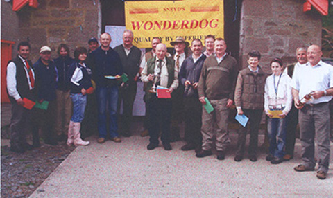 The winners and supporters of the Tay Valley Gundog Association