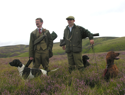Two guns grouse shooting in Scotland