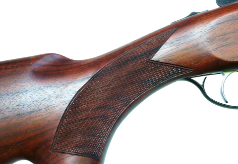 Yildiz over-under 20-bore grip.