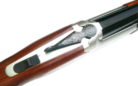 Yildiz over-under 20-bore lever.