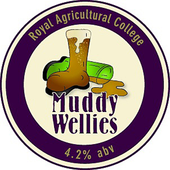 The Muddy Wellies beer logo.