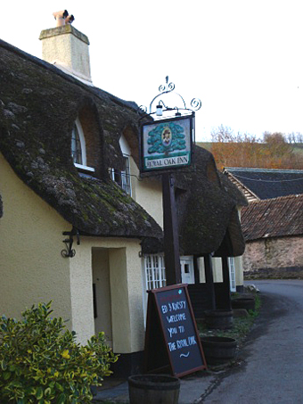 The Royal Oak pub in Exmoor.