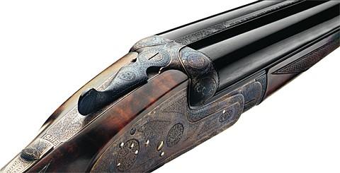 AyA No.1 Sidelock engraving.