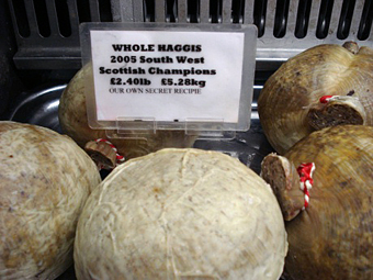 A selection of Haggis.