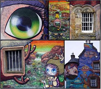 Graffiti montage.