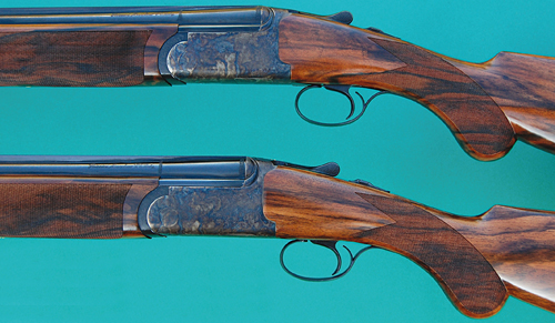 Pair of Rizzini EM 12-bore shotguns.