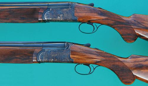 Pair of Rizzini EM 12-bore shotguns.