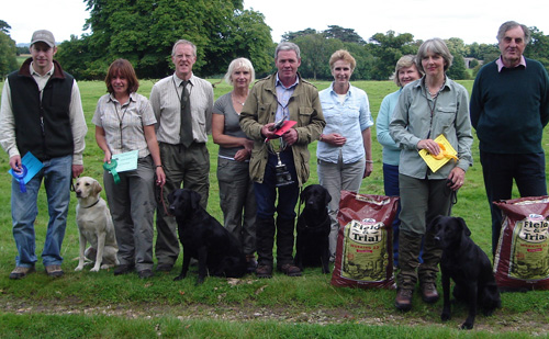 URC Bucks Area gundog novice dog novice handler winners
